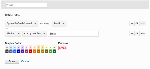 Google Analytics new channel set up